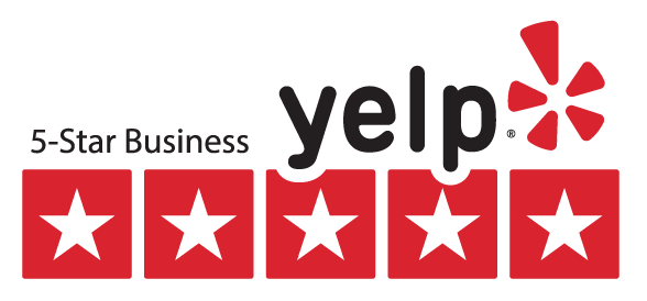 5 Star Reviews on Yelp and Google